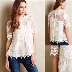 Anthropologie HD In Paris Pina Lace Top